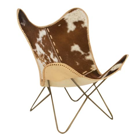 butterfly chair brown white fur pole to pole