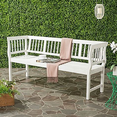 bed bath and beyond brentwood safavieh brentwood outdoor bench bed bath beyond