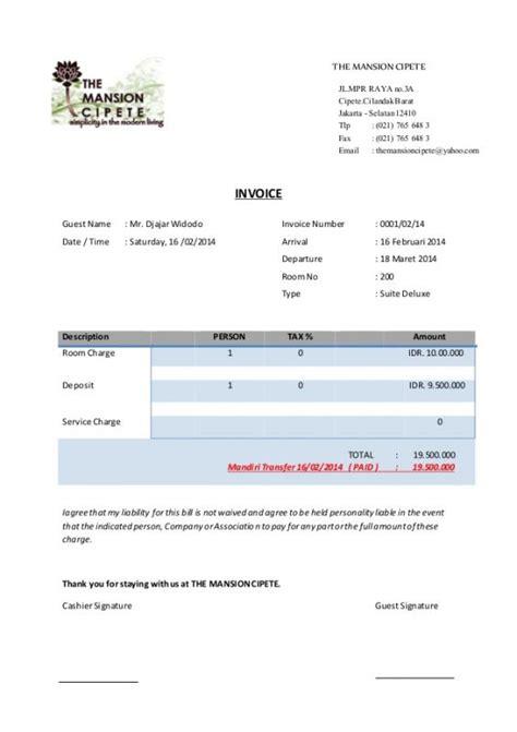 Contoh Surat Invoice by 9 Contoh Invoice Faktur Tagihan Pembayaran Penjualan