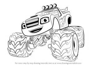 Draw Blaze And The Monster Machines Sketch Coloring Page sketch template