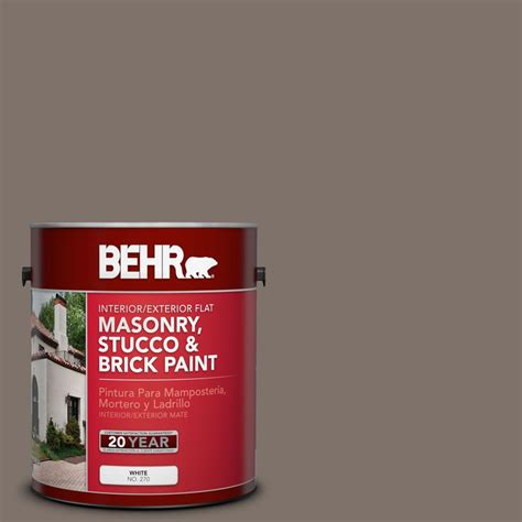 behr premium 1 gal ms 86 dusty brown flat interior exterior masonry stucco and brick paint