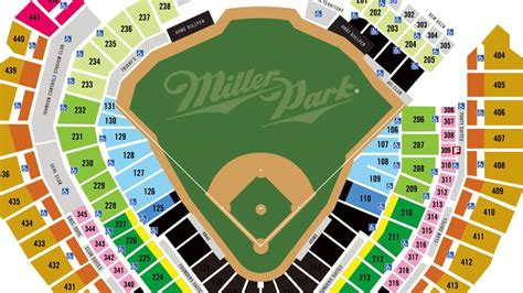 miller park seating map miller park seating map my