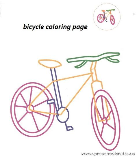 bicycle coloring pages preschool free bicycle coloring pages for preschool preschool crafts