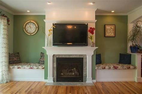wall seating   fireplace google search fireplace