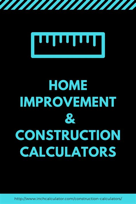 construction calculators and estimation tools inch