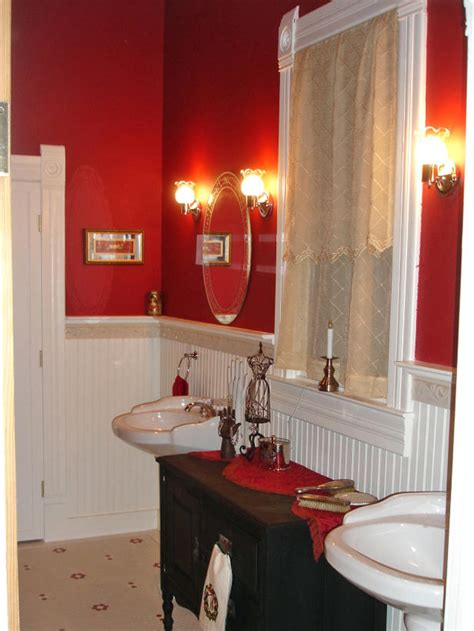 red wall bathroom 8 unique flooring ideas from rate my space home remodeling ideas