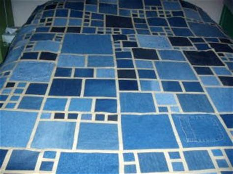 roz counterpane stained glass recycled denim quilt number 2