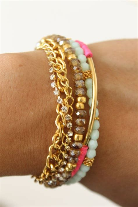 Tasseled Layered Bracelet 35 attractive layering bracelets for your style statement