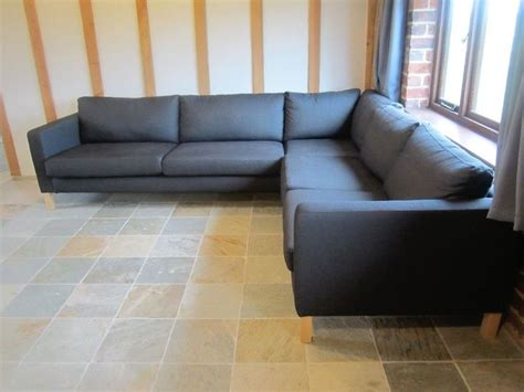 dark gray slipcover new ikea karlstad corner sofa cover 2 3 3 2 slipcover