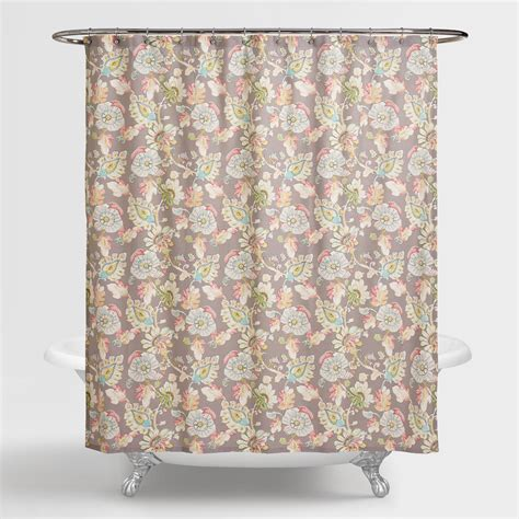 floral shower curtain multicolor floral corinne shower curtain world market