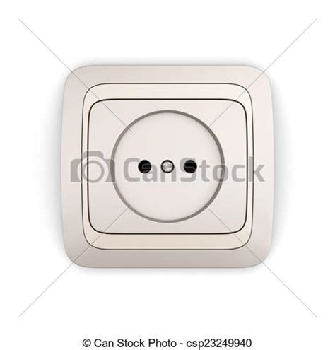 drawing of electrical outlet isolated on white background