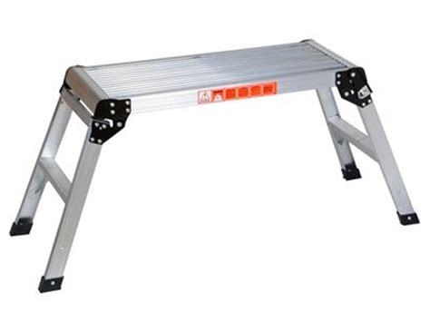 20 Inch Folding Stool by 20 Inch High Aluminum Platform Folding Work Bench Drywell
