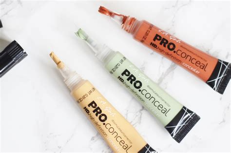 La Concealer Orange Corrector review l a pro conceal correctors in yellow orange and green the blushing giraffe