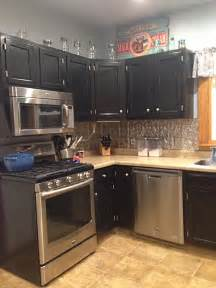 Diy Gel Stain Kitchen Cabinets by Kitchen Cabinets In Black Gel Stain General Finishes