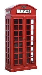 Box With Bookshelves Telephone Box Bookcase With Doors