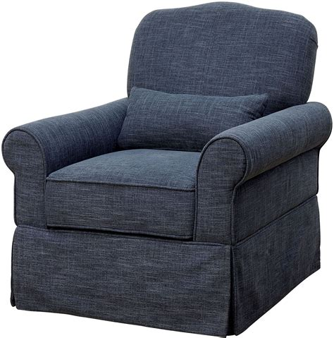 dark blue recliner lesly dark blue 360 swivel glider reclining chair from