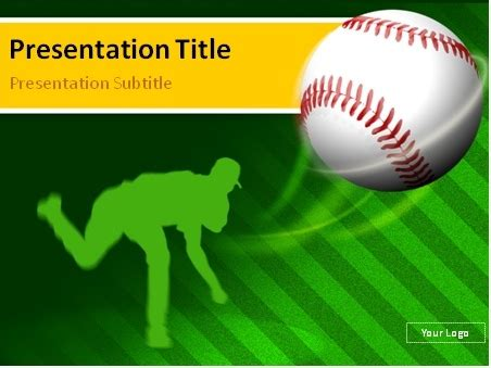 free baseball powerpoint template baseball pitcher powerpoint template