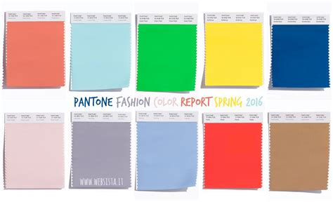 fashion colors for 2016 pantone fashion color report spring 2016 websista