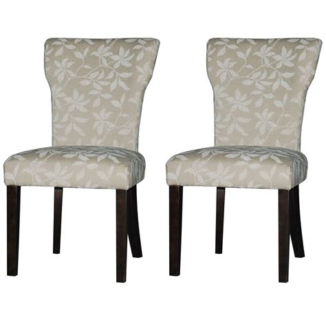 Parsons Dining Room Chairs Furniture Simple And Parsons Chairs Floral Fabric And Solid Wooden Legs For Dining Room