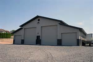 Pole Barns by Monitor Pole Building W Lean To 6061