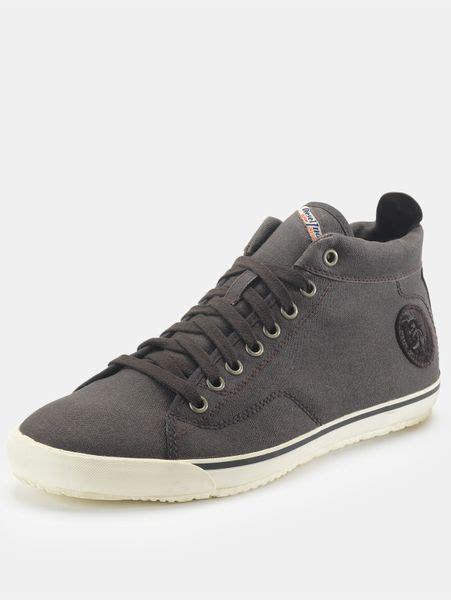 mens diesel sneakers diesel diesel mens midday casual shoes in gray for