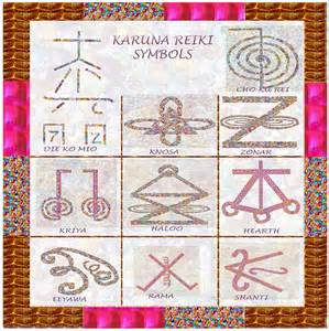 karuna reiki healing power symbols artwork with crystal