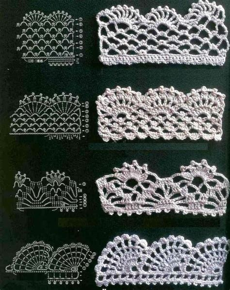 pattern crochet lace 17 best images about crochet edgings borders on