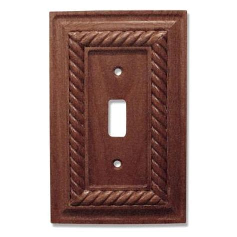 amerelle rope 1 toggle wall plate mahogany 4011tm the