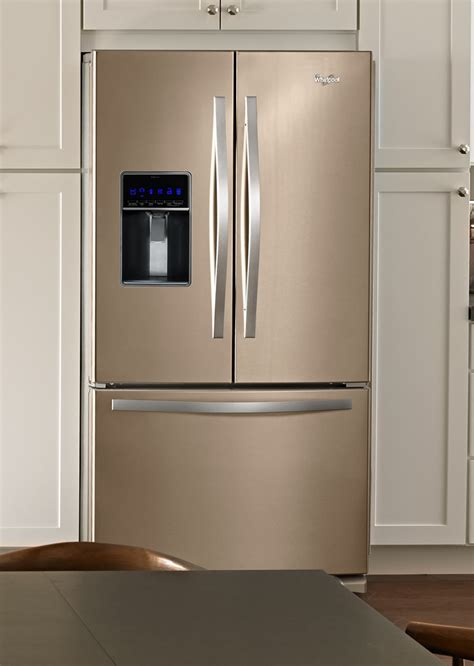 colored refrigerators whirlpool sunset bronze kitchen appliances would you