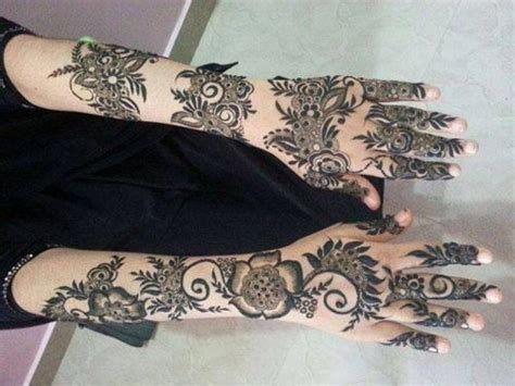Arabic Henna Design Uae | khaleeji henna mehndi designs for hands dubai uae gulf style