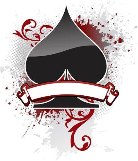 free creative poker playing card spade design vector titanui
