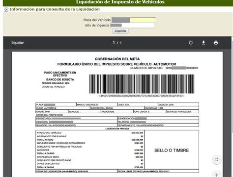 formato para pago de impuestos de vehiculos 201 instrucciones para liquidar el impuestos vehicular en el