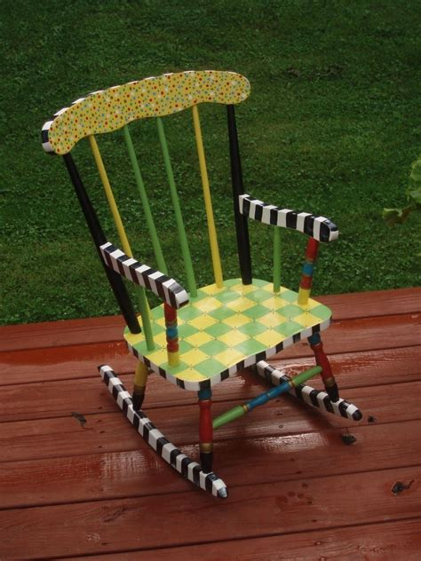 Handmade Childrens Furniture - crafted painted child s rocking chair custom