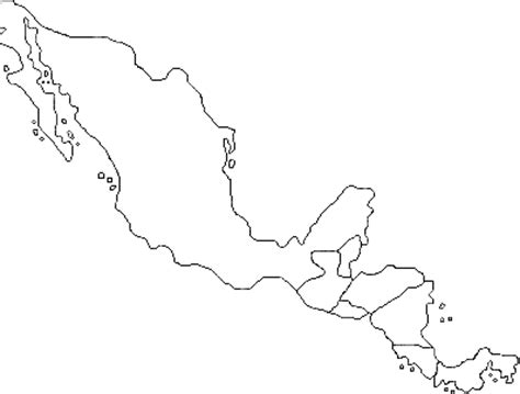 Outline Map Of Mexico And Central America by Find The Central American Countries