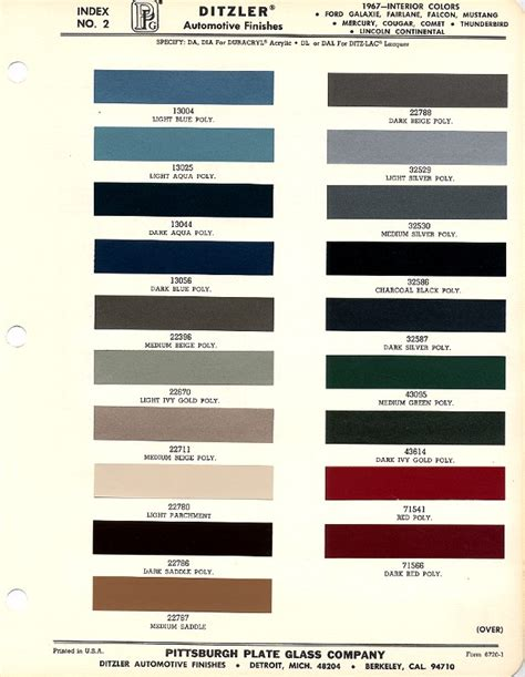 1967 mustang upholstery colors image gallery 67 mustang colors