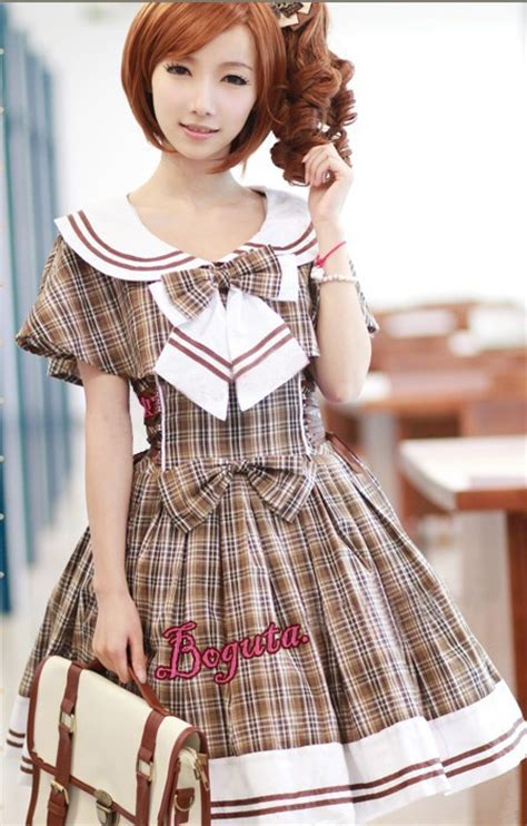 www homelolitas com college style gingham lolita jsk dress and shawl 2 colors