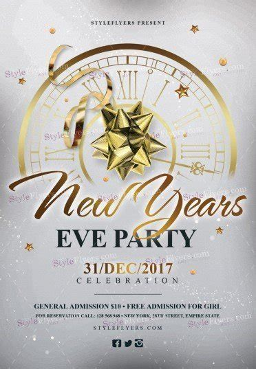 new year template psd new year s psd flyer template 21820 styleflyers