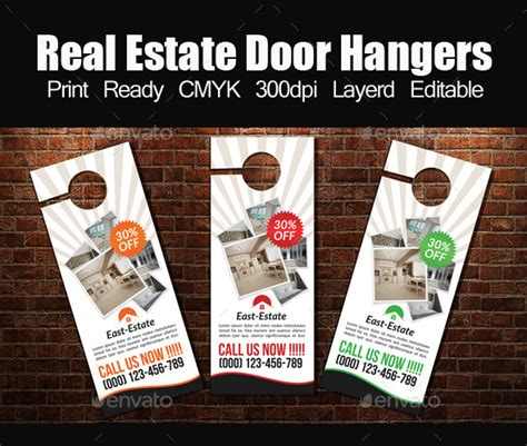 Real Estate Door Hanger Template By Designhub719 Graphicriver Real Estate Door Hanger Templates