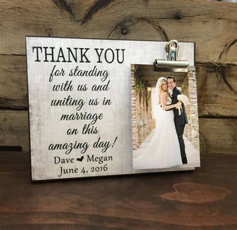 Wedding Gift Thank You by Wedding Gift Thank You For Standing With Us And Uniting