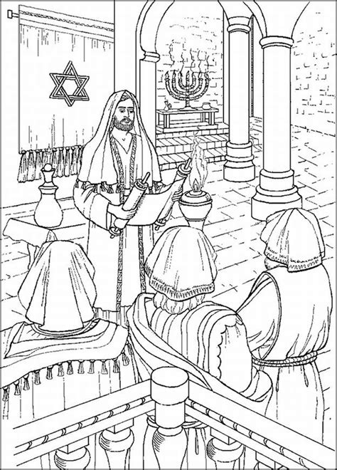 coloring page zechariah at the temple jesus in the temple sunday school