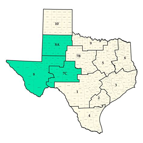 permian basin texas map texas county map permian basin