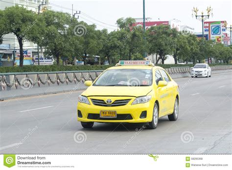 yellow toyota corolla yellow toyota corolla altis taxi editorial stock photo