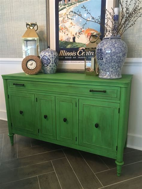 Green Buffet Furniture Buffet Painted In Annie Sloan Antibes Green Vintage