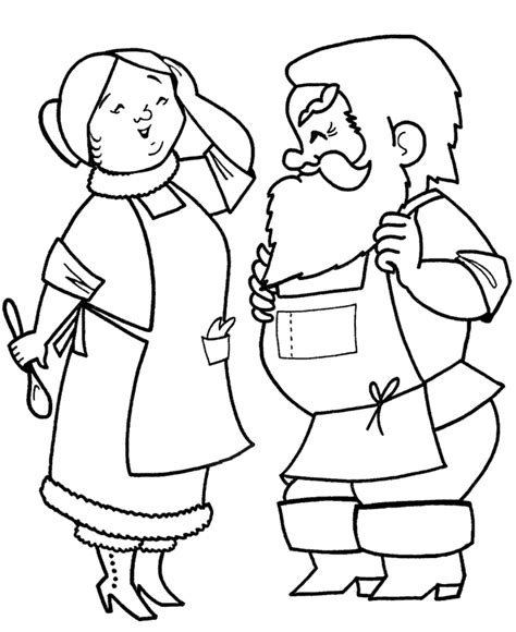 coloring pages of santa and mrs claus santa mrs claus coloring page coloring home