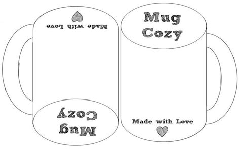Mug Love Cup Cozy Pattern Free Today Only Frogging Along Mug Template Free