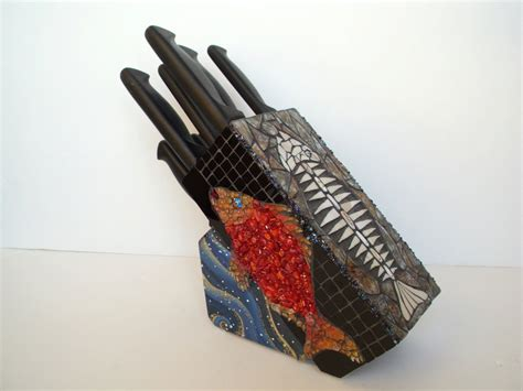 Where To Buy Kitchen Knives by Mosaic Kitchen Knife Holder
