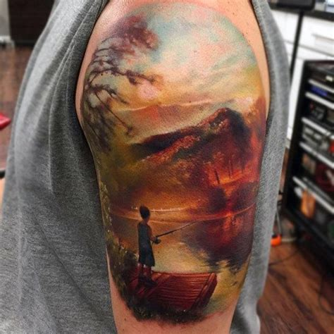 watercolor tattoo half sleeve 100 nature tattoos for great outdoor designs