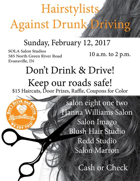 haircut coupons evansville hair stylist against drunk driving