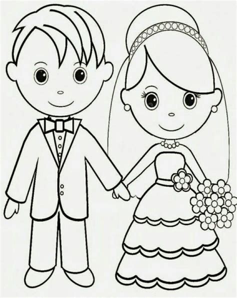 12 Best Wedding Coloring Pages Images On Pinterest