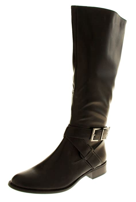 work boots for with flat womens boots low heeled flat knee high work boot office